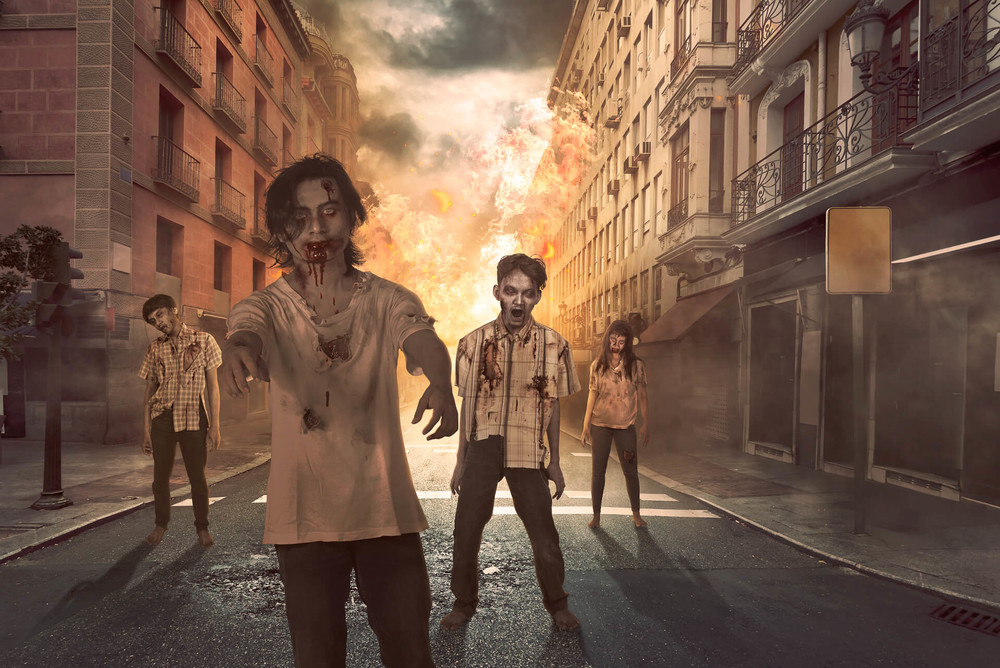 zombies on the street is a result of sleep deprivation