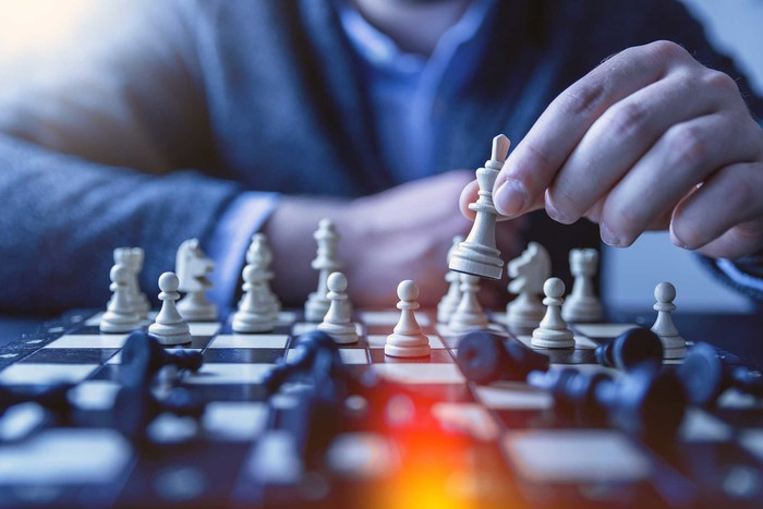 Chess boards game is like a strategy of naked options or covered options