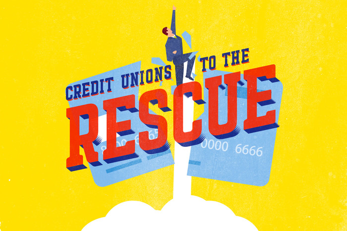 Credit unions to the rescue graphic