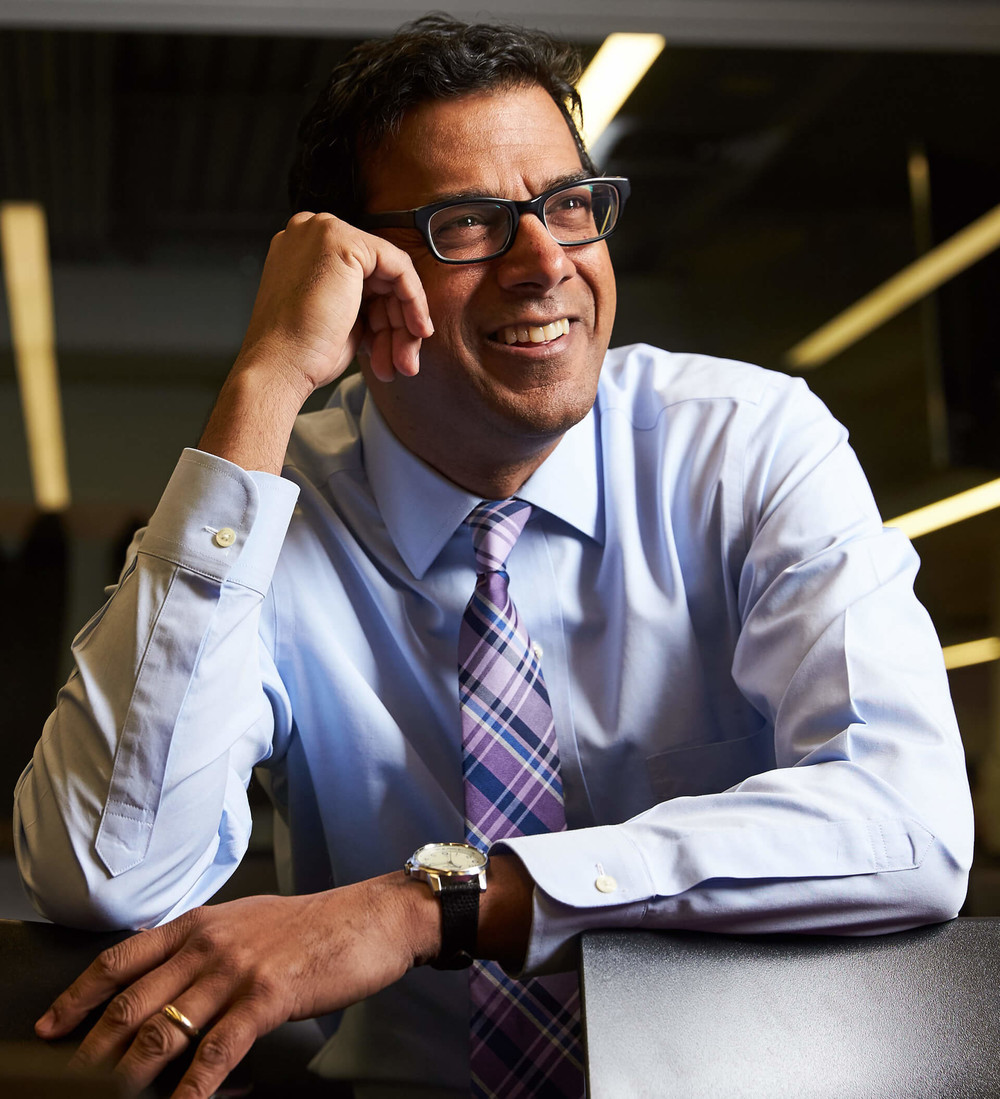 Atul Gawande smiling because he completed daily task by due date