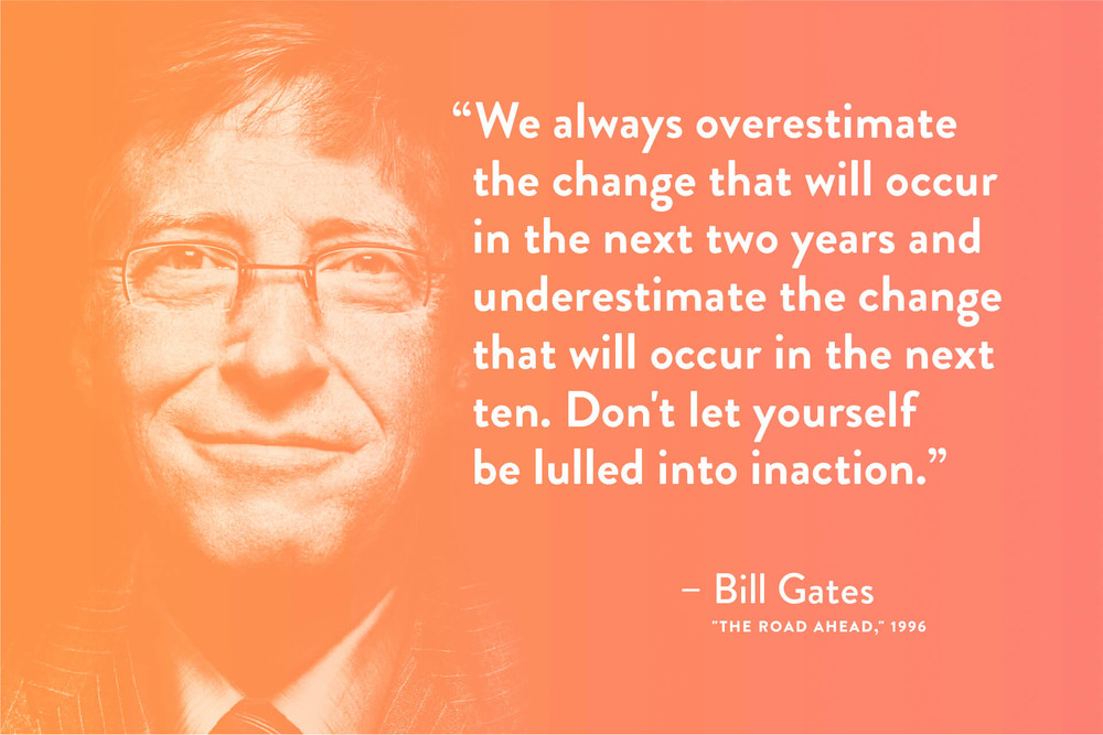 Quote by Bill Gates about exponential mindset growth