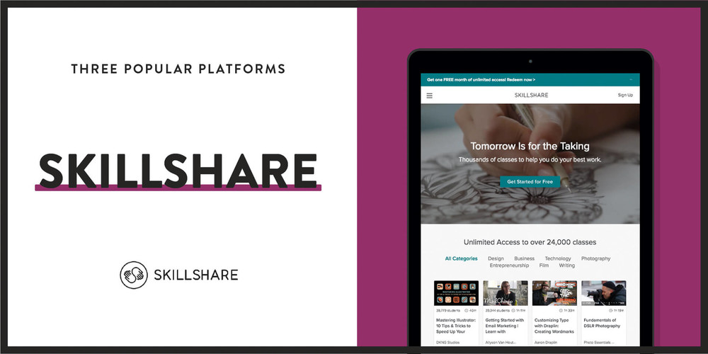 Skillshare is a popular online course marketplace