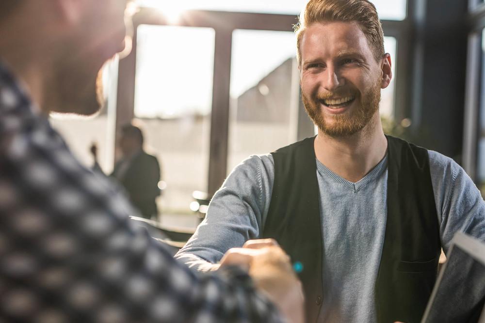 entrepreneur creating personal brand handshake